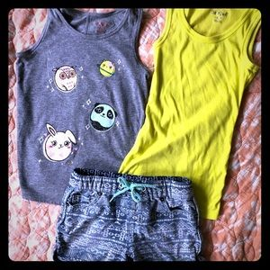 Girls Small Summer Bundle (6/6X) - Tanks & Shorts